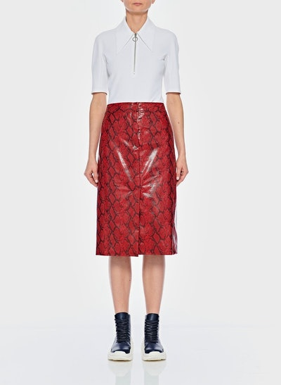 Python Croc Embossed Patent Skirt