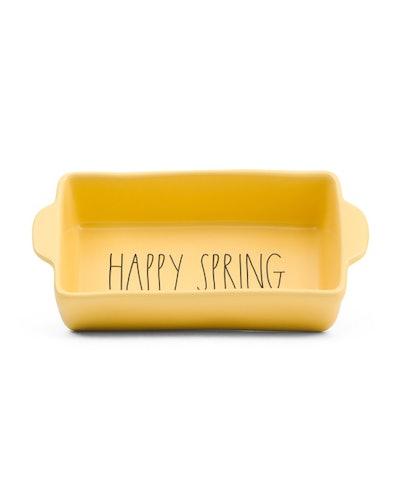 Rae Dunn Happy Spring Loaf Dish