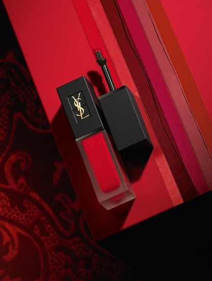 Swatches of YSL Beauty's new Tatouage Couture Velvet Cream Liquid Lipstick.