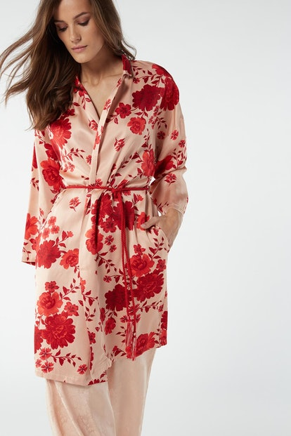 Flower Ballet Viscose Satin Dressing Gown