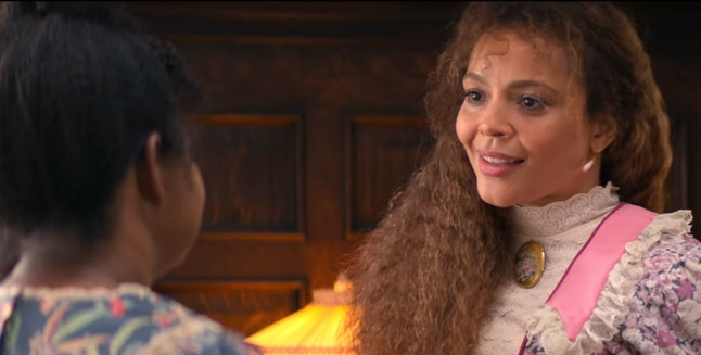 Octavia Spencer as Madam C.J. Walker and Carmen Ejogo as Addie Monroe in Self Made: Inspired by the Life of Madam C. J. Walker