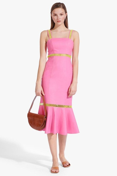 Lychee Dress - Wild Orchid / Key Lime