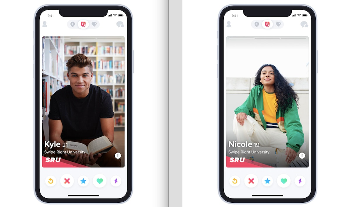 Tinder U's 'Still In Session' feature allows you to swipe on college students around the world.
