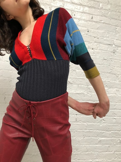 Vintage Striped Knit Top