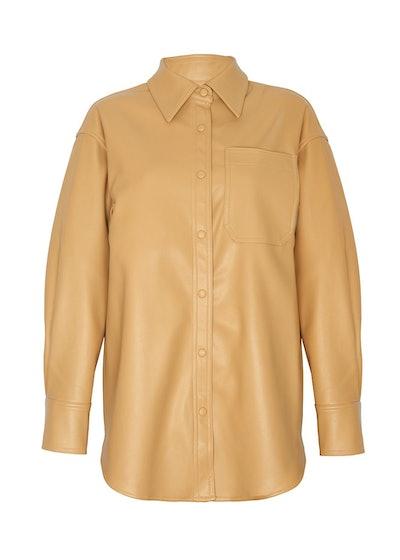 Honey Beige Leather Shirt