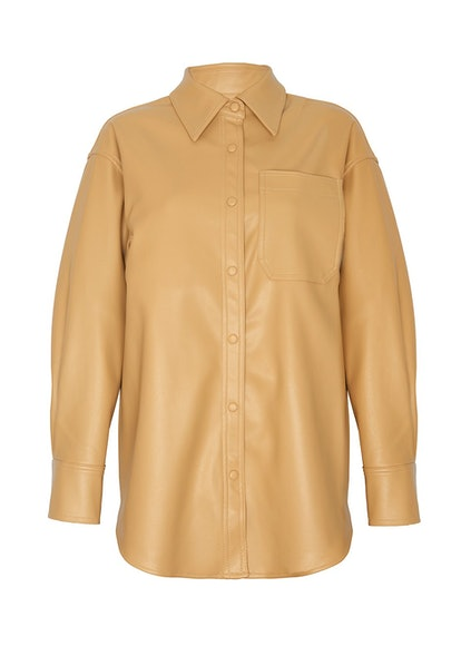 Honey Beige Leather Shirt