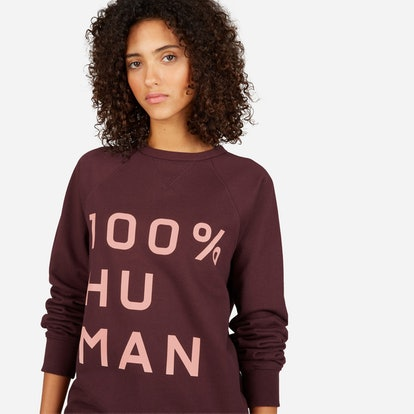 The 100% Human French Terry Sweatshirt in Large Print