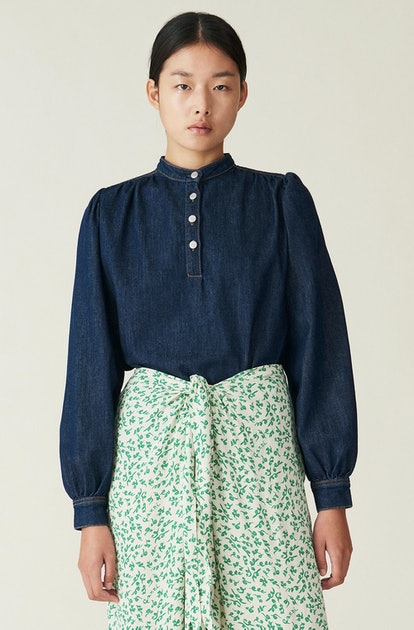 Rinse Denim Blouse