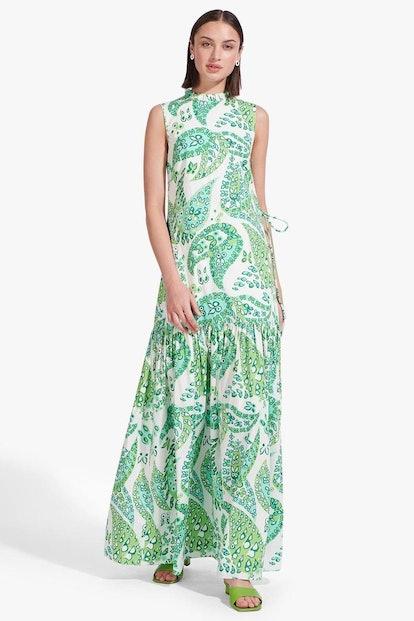 ZO DRESS | LIGHT GREEN BUTTERFLY PAISLEY