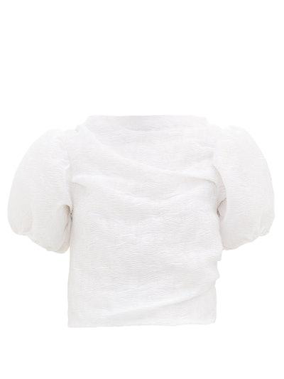 Elo Puff-Sleeve Matelassé Top