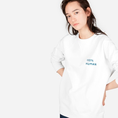 The 100% Human Pride French Terry Sweatshirt in Small Print