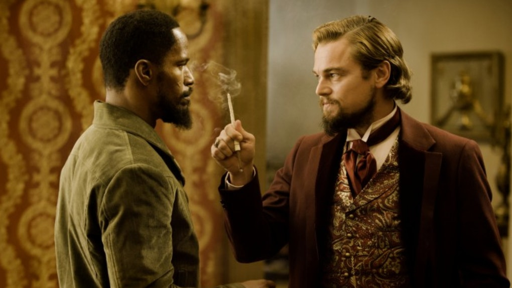 "Jamie Foxx and Leonardo DiCaprio star in Quentin Tarantino's film ""Django Unchained"" coming to Netflix in April 2020"