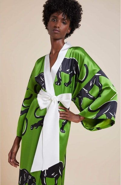 Queenie Hades Full Length Silk Kimono
