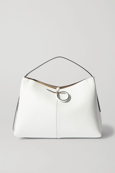 Ava Medium Leather Tote - White Crust