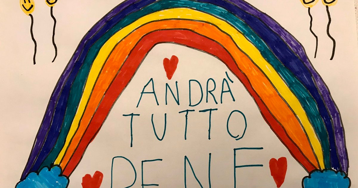 Italian Kids Are Making Rainbows With The Message The World Needs Right Now