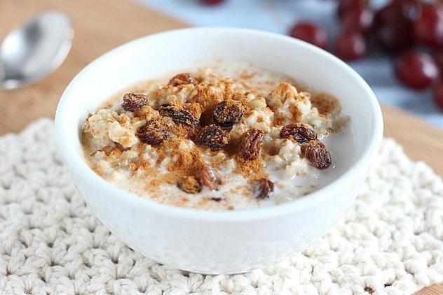 A big, comforting bowl of oats.