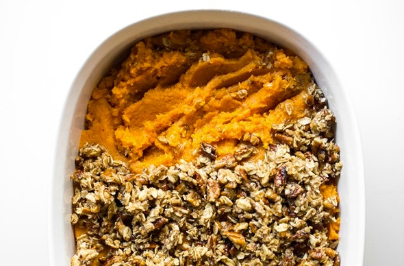 Sweet potato casserole is a comfort food classic.
