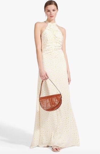 COASTAL DRESS   WHITE YELLOW DAISY
