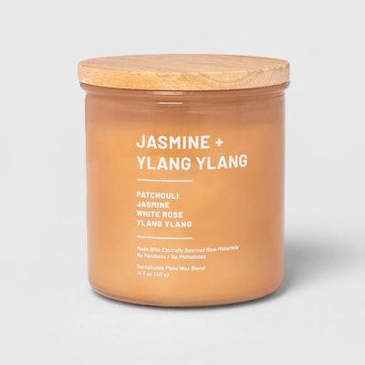 Jasmine & Ylang Ylang Glass Jar 3-Wick Wellness Candle