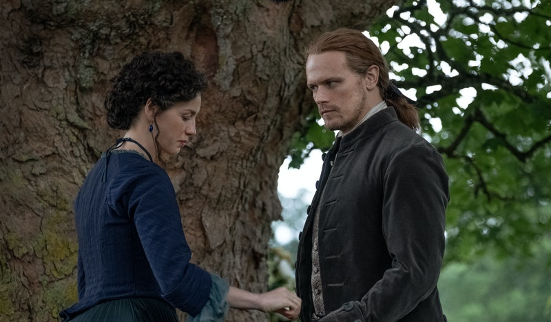 Caitriona Balfe as Claire and Sam Heughan as Jamie in Outlander