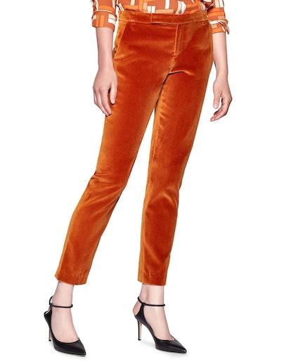 Bercet Velvet Trousers - Sugar Almond