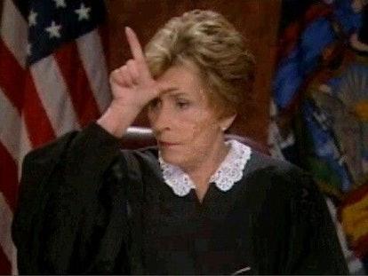 Judge Judy courtroom judging.