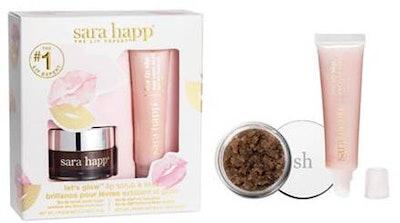 Let's Glow Lip Scrub And Shine Kit