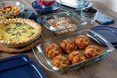 Pyrex Easy Grab Glass Bakeware and Food Storage Set (8-Piece)
