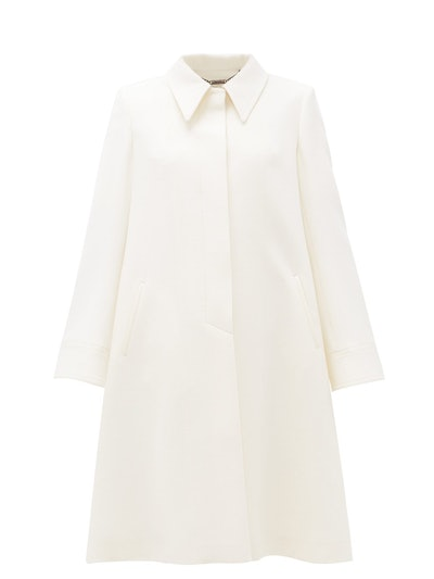 Joplin Point-Collar Wool-Crepe Coat