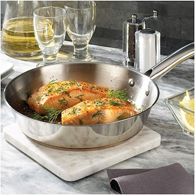 T-fal Stainless Steel Copper Bottom Cookware Set (13-Piece)