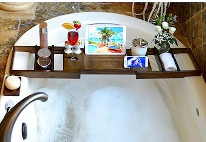 ROYAL CRAFT WOOD Luxury Bamboo Bathtub Caddy
