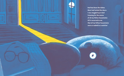 Interior from Everybody's Awake by Colin Meloy and illustrated by Shawn Harris