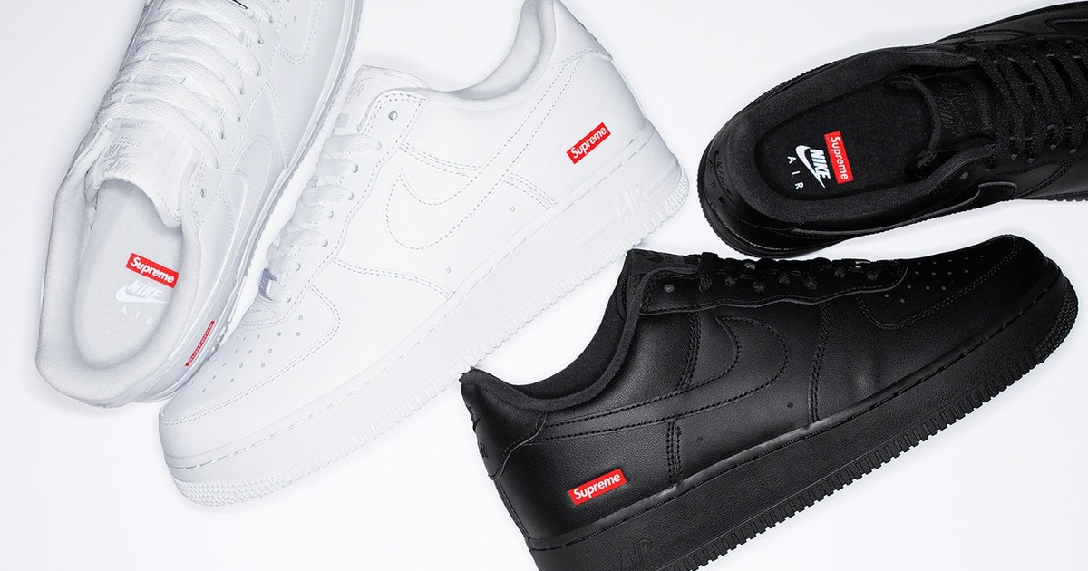 You won't need a bot to get Supreme's 'box logo' Nike Air Force 1