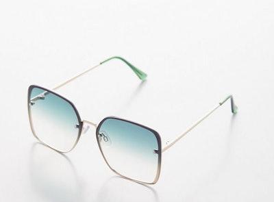 Barb Oversized Rimless Sunglasses
