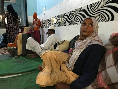 Muslims in Delhi have been forced to flee their homes after religious violence