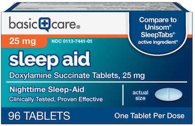 Basic Care Sleep Aid Doxylamine Succinate Tablets (96 Count)