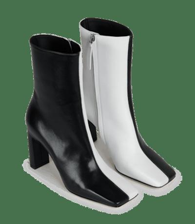 Isa Boot Black White