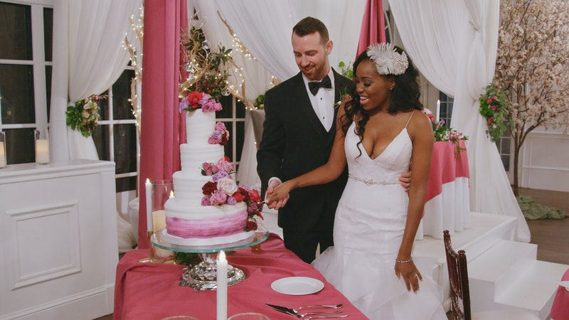 Lauren and Cameron after their wedding on 'Love is Blind.'