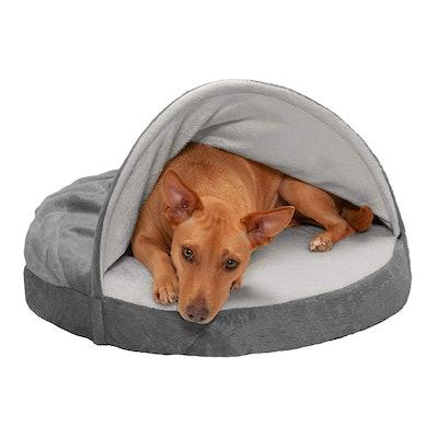 Furhaven Snuggery Burrow Blanket Pet Bed