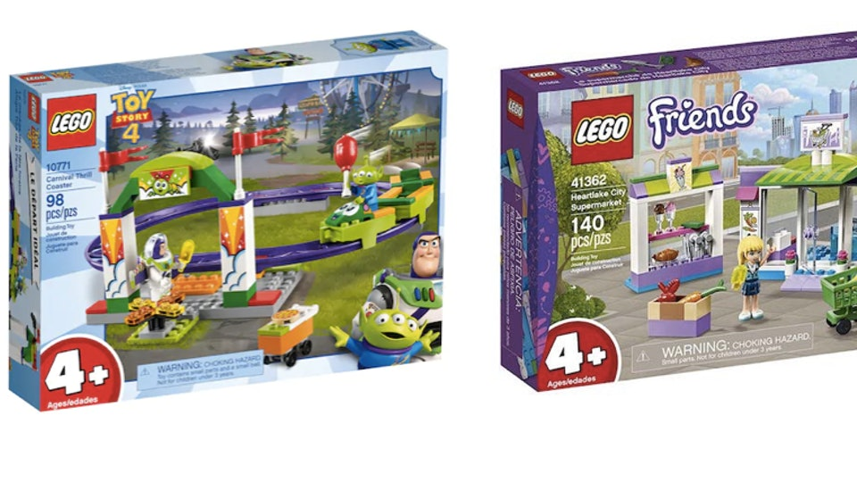 LEGO's 4 and up sets are a great choice for your preschool builders.