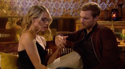 Victoria P. and Peter have their final conversation on Bachelor.