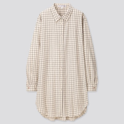 Linen Cotton Long-Sleeve Tunic