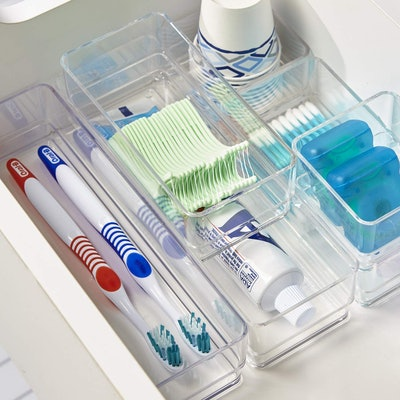 STORi Clear Plastic Drawer Organizers (Set Of 6)