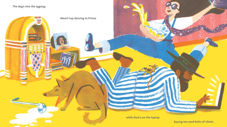 An interior from Everybody's Awake by Colin Meloy and Shawn Harris
