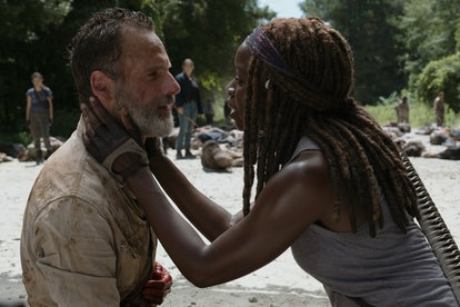 Andrew Lincoln as Rick Grimes and Danai Gurira as Michonne in The Walking Dead