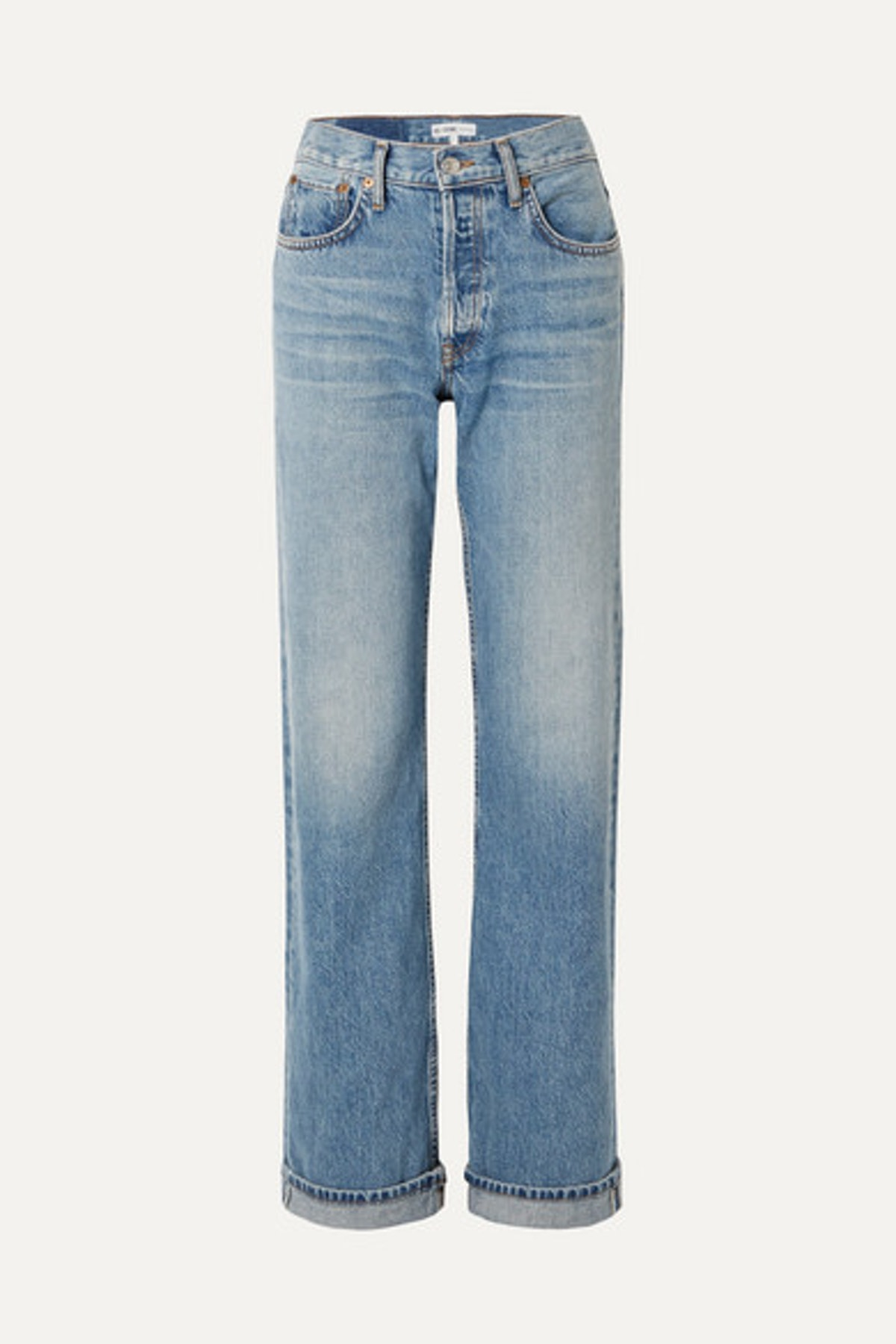 '90s Relaxed Long High-Rise Straight-Leg Jeans