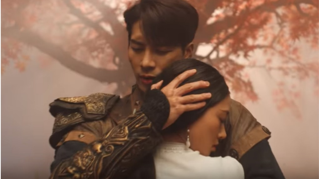 "A screenshot from Jackson Wang's ""100 Ways"" music video."