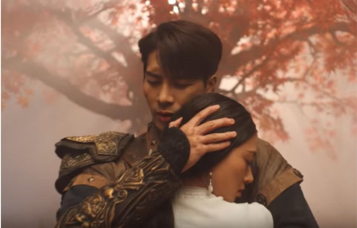 "A screenshot from Jackson Wang's ""100 Ways"" music video."