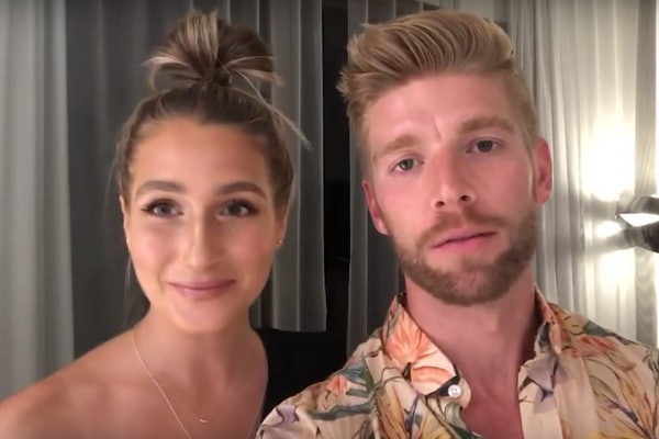 Kyle and Amanda from Bravo TV's 'Summer House' hang at home during virtual happy hour.