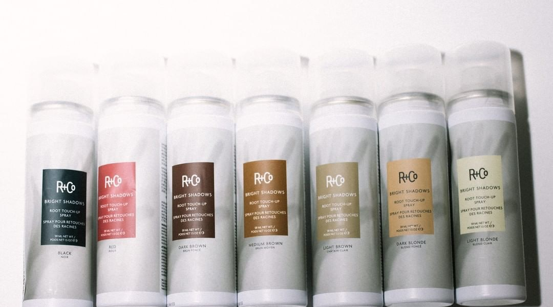 R+Co's root touch-up spray will hold you over until your next hair appointment